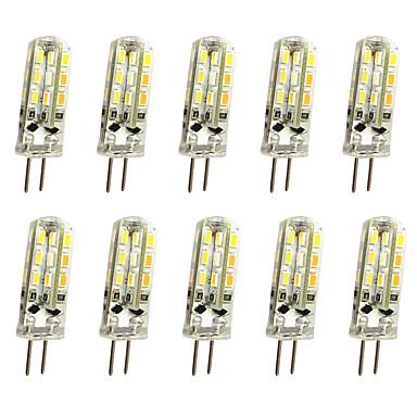 cheap Light Bulbs-10pcs 1 W LED Bi-pin Lights 120 lm G4 T 24LED LED Beads SMD 3014 Decorative Warm White Cold White 12 V / 10 pcs / RoHS
