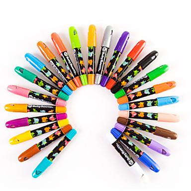 24 Renk Bebek Mum Boya Renk Rotasyon Boyama çubukları çocuklar