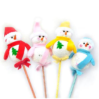 ตกแต่งวันคริสมาสต์ มนุษย์หิมะ สิ่งทอ ผู้ใหญ่ Toy ของขวัญ 4 pcs