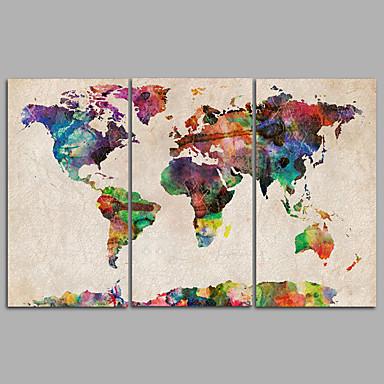 povoljno Ukrašavanje zidova-Print Rolled Canvas Prints - Pejzaž Moderna Tri plohe Umjetničke grafike