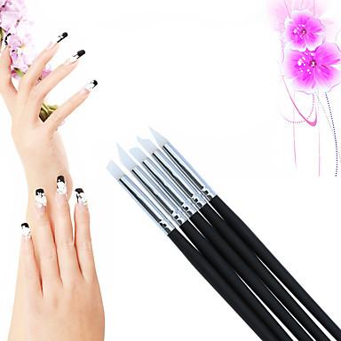 levne Náčiní a vybavení-5pcs Silikon / Dřevo Nástroj na nehty Kartáče na nehty Nástroje na malování nehtů Pro Zábavné nail art manikúra pedikúra Cute Style