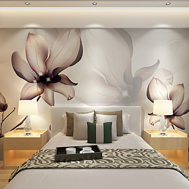 jammory art decowallpaper for home wall covering canvas adhesive required mural brown flowers xl. Black Bedroom Furniture Sets. Home Design Ideas