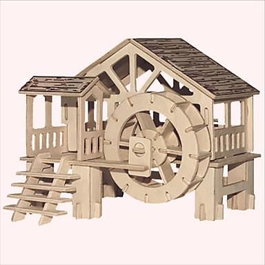 จิ๊กซอว์ ปริศนาไม้ การก่อสร้างตึก ของเล่น DIY อาคารที่มีชื่อเสียง สถาปัตยกรรมแบบจีน บ้าน 1 ไม้ คริสตัล รุ่นและอาคารของเล่น