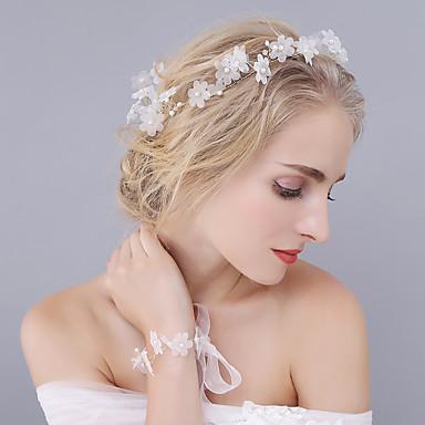 ตูเล่ / คริสตัล / ไข่มุกเทียม tiaras / headbands / ดอกไม้ กับ 1 งานแต่งงาน / โอกาสพิเศษ หูฟัง