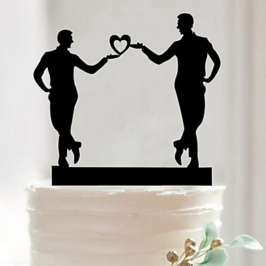 เครื่องประดับเค้ก อะคริลิค เครื่องประดับจัดงานแต่งงาน วันวาเลนไทน์ ฤดูใบไม้ผลิ / ฤดูร้อน / ตก