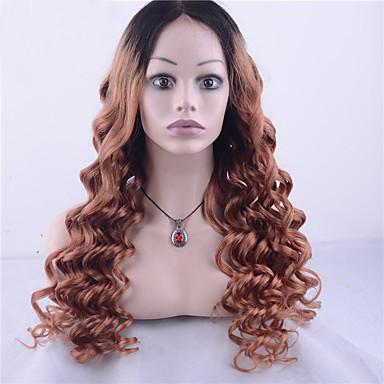 ผม Remy ลูกไม้หน้าไม่มีกาว มีลูกไม้ด้านหน้า วิก Jennifer สไตล์ ผมเปรู ลอนใหญ่ Ombre วิก 130% Hair Density ผมเด็ก ผม Ombre เส้นผมธรรมชาติ วิกผมแอฟริกันอเมริกัน 100% มือผูก สำหรับผู้หญิง Short
