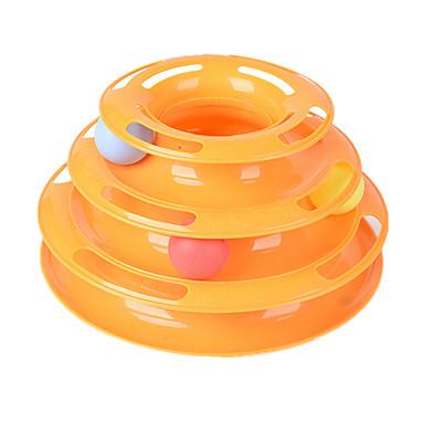preiswerte Katzenspielzeug-Kugelbahnen für Katzen Kugel Interaktives Training Katze Haustiere Spielzeuge 1 Langlebig Mehrfarbig Kunststoff Geschenk