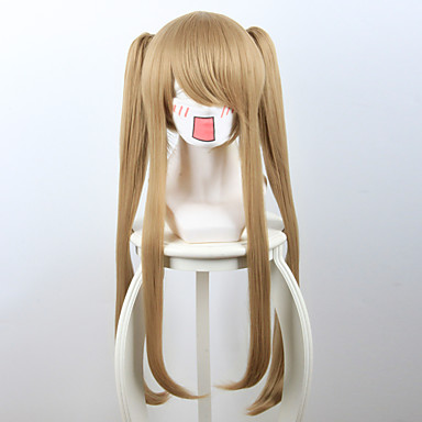 billige Kostymeparykk-Syntetiske parykker Rett Stil Parykk Blond Kort Medium Lengde Lang Jordebær Blond Syntetisk hår Dame Blond Parykk