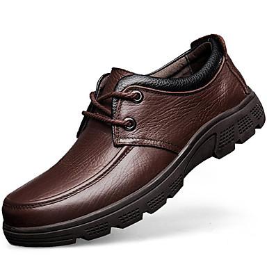 Hombre Zapatos Cuero Primavera / Otoño Confort / Innovador / Zapatos formales Oxfords Paseo Negro / Café / Boda / Fiesta y Noche lZvmMTBAa