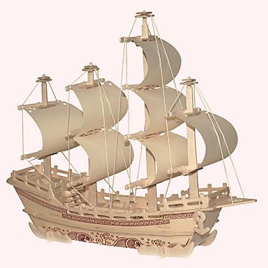 levne 3D puzzle-Dřevěné puzzle Dřevěný model Slavné stavby Čínské stavby Loď profesionální úroveň Dřevěný 1 pcs Dětské Dospělé Chlapecké Dívčí Hračky Dárek