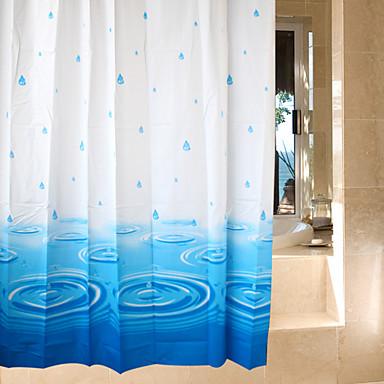Shower Curtains Neoclassical PEVA รูปเรขาคณิต ทำจากเครื่องจักร