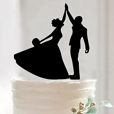 เครื่องประดับเค้ก อะคริลิค เครื่องประดับจัดงานแต่งงาน วันเกิด / งานแต่งงาน / วันวาเลนไทน์ ฤดูใบไม้ผลิ / ฤดูร้อน / ตก