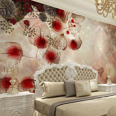 ลายดอกไม้ อาร์ต เดคโค 3D ของตกแต่งบ้าน ร่วมสมัย ครอบคลุมผนัง, ผ้าใบ วัสดุ กาวที่จำเป็น ภาพจิตรกรรมฝาผนัง, Wallcovering ห้อง