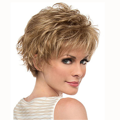 how to style synthetic hair s synthetic wig curly yellow pixie cut with 7674