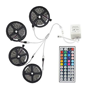 preiswerte Dekorative Beleuchtung-20m Lichtsets 600 LEDs 5050 SMD 10mm RGB-Fernbedienung / RC / schneidbar / dimmbar / verknüpfbar / fahrzeuggeeignet / selbstklebend / farbwechselnd / IP44