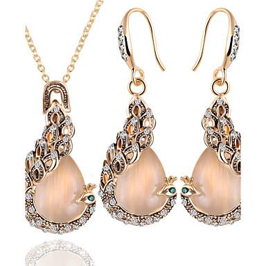 levne Dámské šperky-Dámské Opál Sady šperků Páv Evropský Opál Náušnice Šperky Zlatá Pro Denní