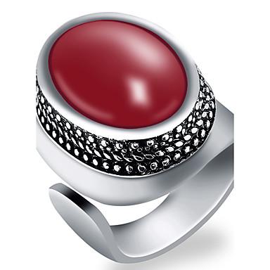 สำหรับผู้ชาย แหวน สีดำ สีเขียว แดง เรซิน โลหะผสม แฟชั่น ปาร์ตี้ ทุกวัน เครื่องประดับ