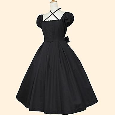 1bce879090 Γλυκιά Λολίτα Rococo Γυναικεία Φορέματα Cosplay Μαύρο Κοντομάνικο Κάτω από  το γόνατο Κοστούμια 5525056 2019 –  91.79