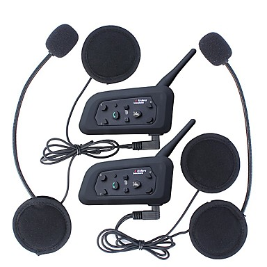 billiga Fordon-2pcs 1200m vattentät motorcykelhjälm interphone bluetooth intercom headset v6 intercom intercomunicador moto interfones hjälm headset