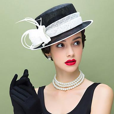 voordelige Hoeden-Vlas / Veer Kentucky Derby Hat / fascinators met 1 Bruiloft / Speciale gelegenheden  / Causaal Helm