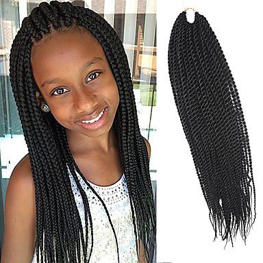 povoljno Ekstenzije za kosu-Kosa koja se plete Senegal Twist pletenice Ekstenzije od ljudske kose 100% kanekalon kose Kanekalon Sušilo za pletenice Dnevno