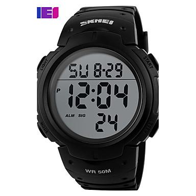 levne Dámské-Pánské Sportovní hodinky Hodinky s lebkou Vojenské hodinky Křemenný Digitální Silikon Vícebarevný 30 m Voděodolné Alarm Kalendář Digitální Přívěšky Luxus Klasické Na běžné nošení Skládaný - Zelen