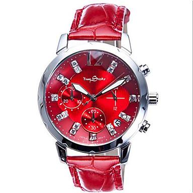 levne Pánské-Dámské Sportovní hodinky Módní hodinky Křemenný Kalendář Chronograf Svítící Kůže Kapela Bílá Červená
