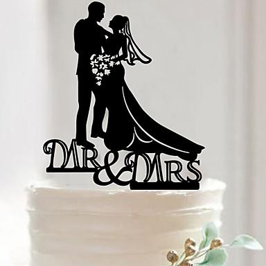 เครื่องประดับเค้ก อะคริลิค / วัสดุผสม เครื่องประดับจัดงานแต่งงาน วันเกิด / งานแต่งงาน / วันวาเลนไทน์ ธีมคลาสสิก ฤดูใบไม้ผลิ / ฤดูร้อน / ตก