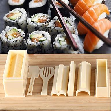 1set lätt att använda diy sushi maker ris mögel kök sushi gör verktyg för sushi rulle kök accessaries matlagning verktyg