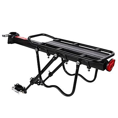 billige Sykkeltilbehør-Bike Cargo Rack Bakre rack Maks Lasting 50 kg Justerbare Enkel å installere Aluminiumslegering Fjellsykkel - Svart