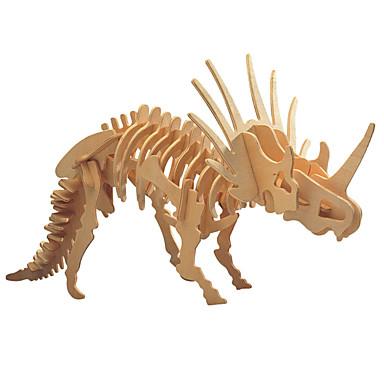 levne 3D puzzle-3D puzzle Dřevěné puzzle Dřevěný model Triceratops Dinosaurus Fosilní kosti Udělej si sám Dřevěný 1 pcs Dětské Dospělé Chlapecké Dívčí Hračky Dárek
