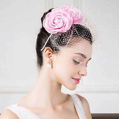 พลอยเทียม / ผ้าไหม / สุทธิ Kentucky Derby Hat / headbands / ดอกไม้ กับ ดอกไม้ 1pc งานแต่งงาน / โอกาสพิเศษ / ที่มา หูฟัง