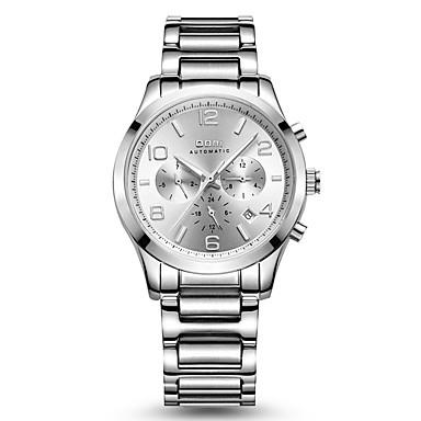 levne Pánské-Pánské Sportovní hodinky Módní hodinky mechanické hodinky Automatické natahování 30 m Voděodolné Kalendář Svítící Nerez Kapela Analogové Stříbro / Růžové zlato - Stříbrná Růžové zlato / Stříbrná