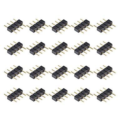 หัวต่อสำหรับเชื่อมต่อชาย 4 ขาขนาด 20pcs สำหรับ 3528 5050 smd rgb led strip lighting