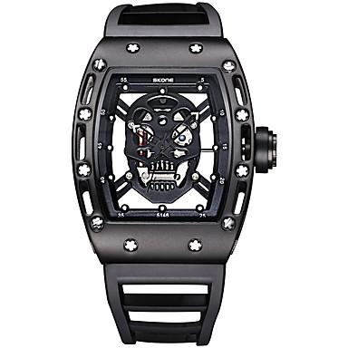 levne Pánské-SKONE Pánské Sportovní hodinky Hodinky s lebkou Náramkové hodinky Křemenný Silikon Černá / Modrá / Červená 30 m Voděodolné Svítící Analogové Luxus Vintage Czaszka Módní Unikátní kreativní sledování -