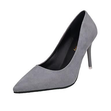 Mujer Zapatos PU Invierno Pump Básico Tacones Tacón Stiletto Dedo Puntiagudo Negro / Rojo AHbAf