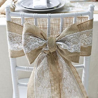 ที่คลุมเก้าอี้ ลูกไม้ / วัสดุผสม เครื่องประดับจัดงานแต่งงาน งานแต่งงาน ธีมคลาสสิก ทุกฤดู