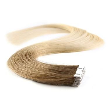 levne Příčesky z pravých vlasů-Neitsi Lepící Rozšíření lidský vlas Volný Přírodní vlasy Příčesky z pravých vlasů Dámské Sytě černá