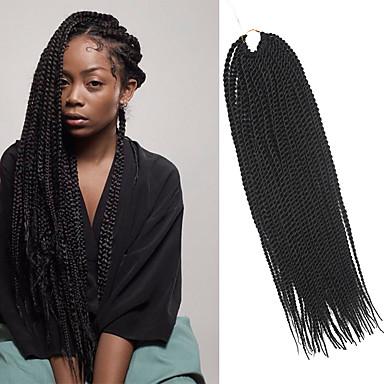 povoljno Ekstenzije za kosu-Twist pletenice Pletenice Senegal 100% kanekalon Tamnosmeđa Kosa koja se plete Ekstenzije za kosu