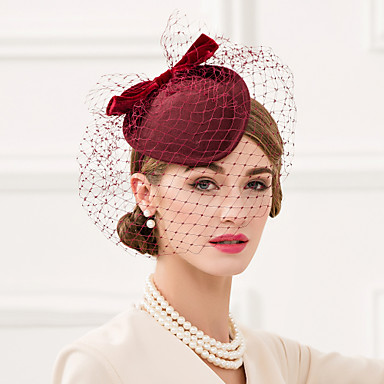 povoljno Party pokrivala za glavu-Vuna / Net / Velvet Kentucky Derby Hat / Fascinators / Šeširi s Cvjetni print 1pc Vjenčanje / Special Occasion / Kauzalni Glava