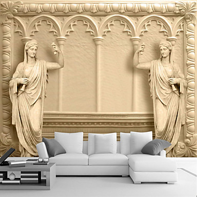 Art Deco 3D Home Decoration Classical Wall Covering, Canvas Material ...