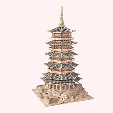 ปริศนาไม้ หอคอย อาคารที่มีชื่อเสียง สถาปัตยกรรมแบบจีน บ้าน ระดับมืออาชีพ ทำด้วยไม้ 1pcs สำหรับเด็ก เด็กผู้ชาย ของขวัญ