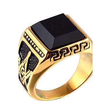 Ανδρικά Onyx Δακτύλιος Δήλωσης   Δαχτυλίδι - Τιτάνιο Ατσάλι Βίντατζ ... 9fefa7bd82a