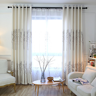 ทำเองผ้าม่านเป็นมิตรกับสิ่งแวดล้อมม่านสองแผงสำหรับห้องนอน