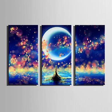 povoljno Ukrašavanje zidova-Print Stretched Canvas Prints - Pejzaž Moderna Europska Style Tri plohe Umjetničke grafike