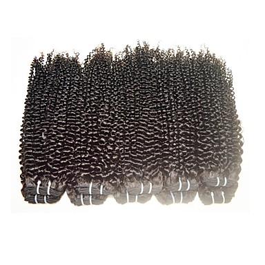 povoljno Remy umeci od ljudske kose-Ljudska kosa Remy umeci od ljudske kose Kovrčav / Kinky Curly Brazilska kosa 1000 g 1 godina
