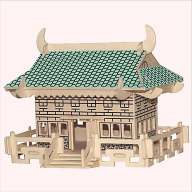 voordelige 3D-puzzels-Legpuzzels Houten puzzels Bouw blokken DHZ-speelgoed Beroemd gebouw Chinese architectuur Schip Huis 1 Hout KristalModelbouw &