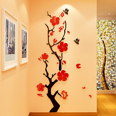 Botanical Wall Stickers 3D Wall Stickers Decorative Wall Stickers ...