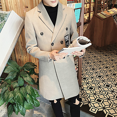 17fa1da35d3e S ανδρών σταυρωτό μάλλινο παλτό φθινόπωρο και το χειμώνα λεπτό τμήμα μήκους  εκτύπωση μεγάλου μεγέθους αντιανεμικό 5551331 2019 – $46.79