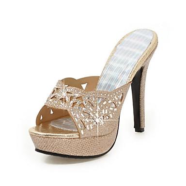 Női Crystal szandál Glitter   Személyre szabott anyagok Tavasz Kényelmes    Club cipő Szandálok Tűsarok Köröm Csat Arany   Forgásc   Esküvő   Party és  ... 3b2c50f10d